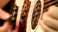 Oud Player Close up