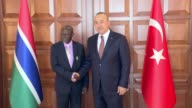 Ousainou Darboe Gambian Minister of Foreign Affairs International Cooperation and the Gambians Abroad meets with Turkish Foreign Minister Mevlut...