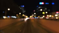 Out of focus city life.