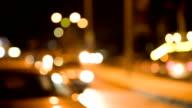 HD: Aus Fokus Verkehr bei Nacht