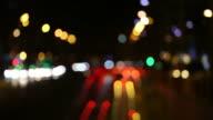 Out-of-Fokus Verkehr Lichter in FullHD.