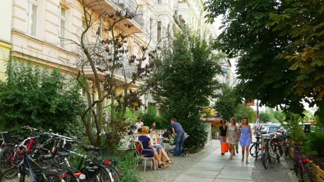 Outdoor Cafe in Prenzlauer Berg Neighborhood In Berlin