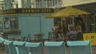 Outdoor coffee tables, Darwin shopping mall, Australia