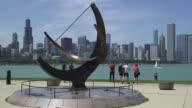 Outdoor Sculpture With Chicago Skyline (daytime)
