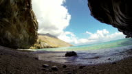 Outstanding beach cave and beautiful sea