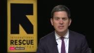 Over 400000 Rohingya Muslims seek safety in Bangladesh USA New York New York City INT David Miliband LIVE interview SOT
