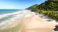 Over beach