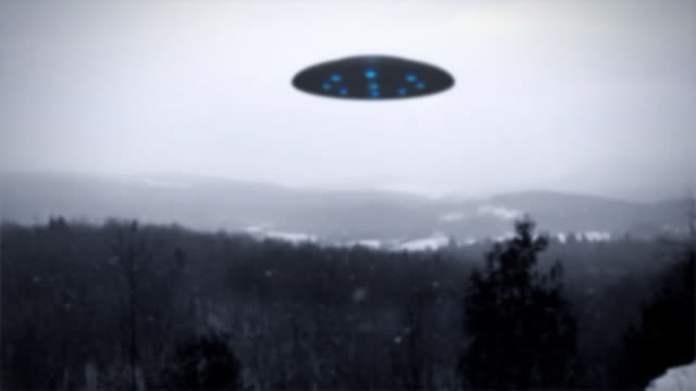 UFO over forest