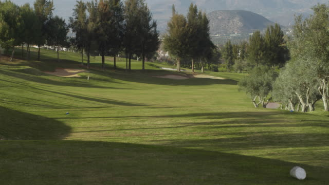LS PAN over golf course with olive trees, RED R3D 4K