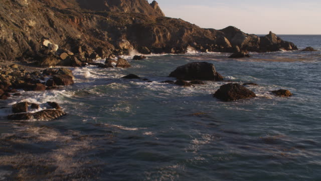 Over jagged rocks along the Catalina coast. Shot in 2010.