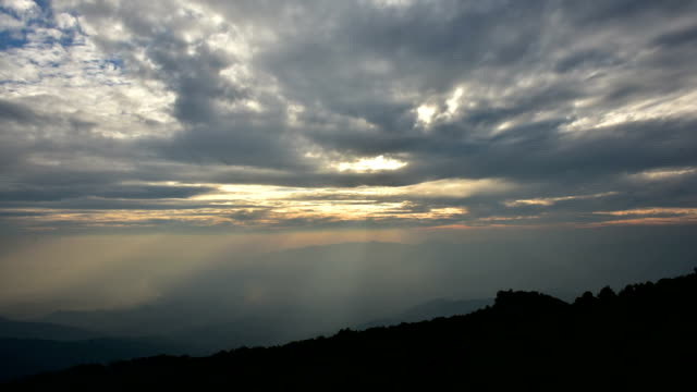 over mountain