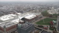 Over Providence, Rhode Island, flyby of the capitol building. Shot in November 2011.