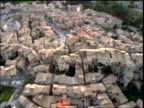 AERIAL over village of Sisteron / Provence, France