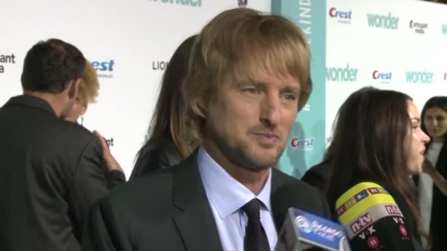 Owen Wilson and the cast of Wonder attend the red carpet premiere of the new film based on the bestselling novel which tells the story of a boy with...
