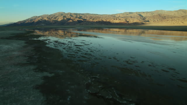 Owens Lake and the Inyo Mountains, Owens Valley, California.