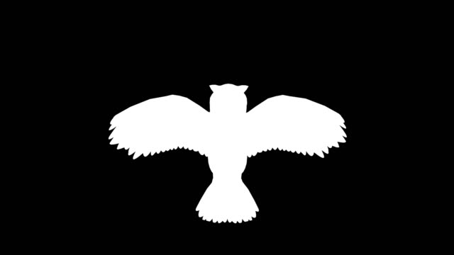 Owl Landing Silhouette
