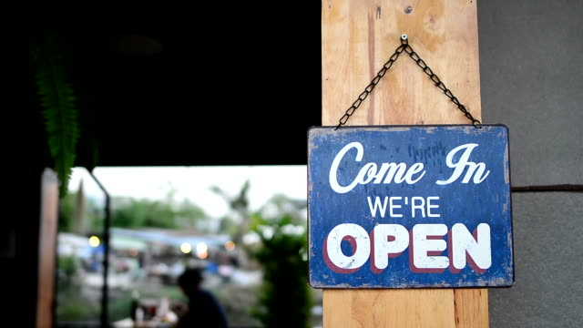 Inhaber Eröffnung shop