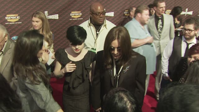 Ozzy Osbourne and Kelly Osbourne at the Spike TV's SCREAM 2008 at Los Angeles CA