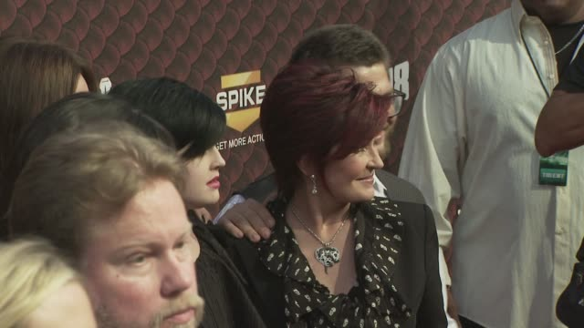 Ozzy Osbourne Kelly Osbourne Sharon Osbourne and Jack Osbourne at the Spike TV's SCREAM 2008 at Los Angeles CA