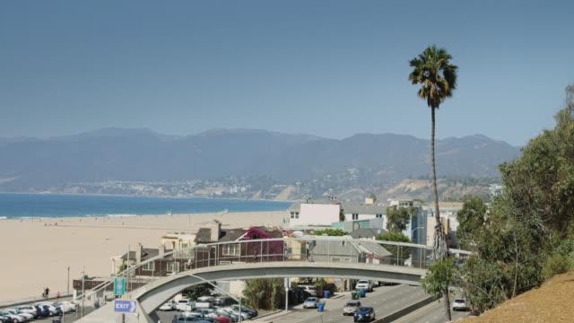 Pacific Coast Highway Alongside Santa Monica State Beach