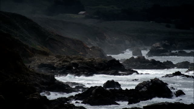 Pacific coast, stormy weather