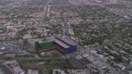 AERIAL Pacific Design Center and surrounding area / Los Angeles California, United States