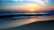 Pazifik Sonnenuntergang am Strand von Santa Monica, Kalifornien, VEREINIGTE STAATEN