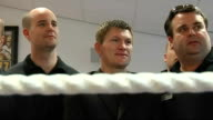 Package on Ricky Hatton opening new gym ENGLAND Cheshire Hyde Hatton House INT Ricky Hatton in photocall in boxing ring with members of his new gym...