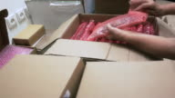 Packing circuit boards into bubble wrap for transportation