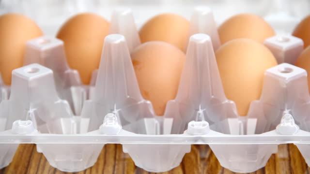Verpackung Eier.