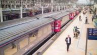 Paddington train station with passengers