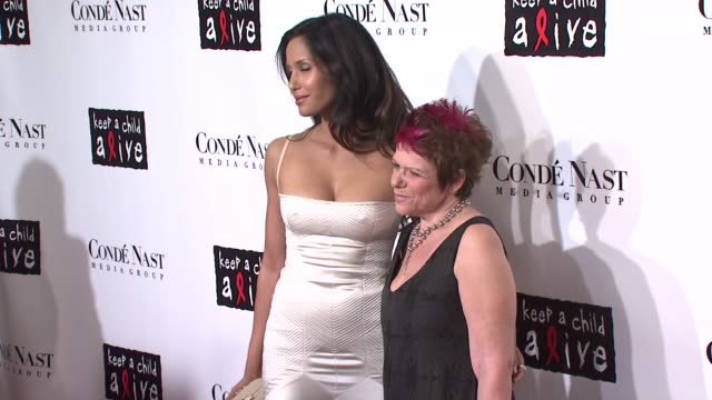Padma Lakshmi and Leigh Blake at the Conde Nast Media Group Presents the 4th Annual 'Black Ball' Concert for 'Keep A Child Alive' arrivals at the...