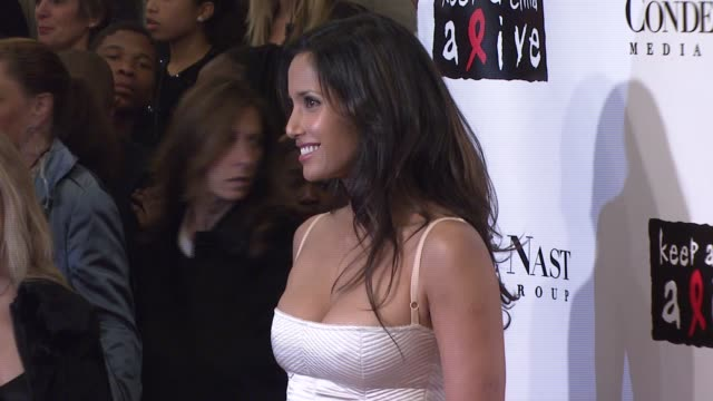 Padma Lakshmi at the Conde Nast Media Group Presents the 4th Annual 'Black Ball' Concert for 'Keep A Child Alive' arrivals at the Hammerstein...