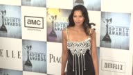 Padma Laskshmi and guest at the Film Independent's 2009 Spirit Awards Arrivals Part 3 at Los Angeles CA
