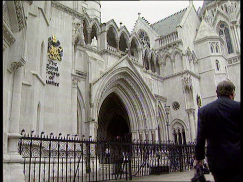 ENGLAND London High Court Exterior shots of Royal Courts of Justice