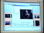 Police arrests after internet crackdown ITN London Image of Ghosh seen on computer screen running facial mapping software Face of Ghosh being mapped...