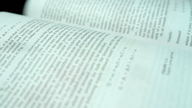 Pages And Texts Of Open Book Rotating