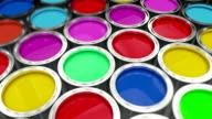Paint cans flythrough