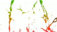 Paint splashes in slow motion - with alpha