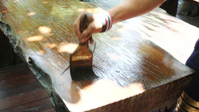 Farbe Oberfläche Farbe auf Holz