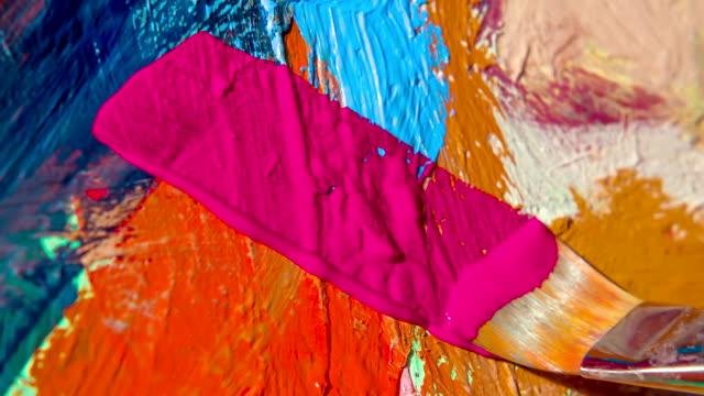 Pennello di pittura a olio su tela classica