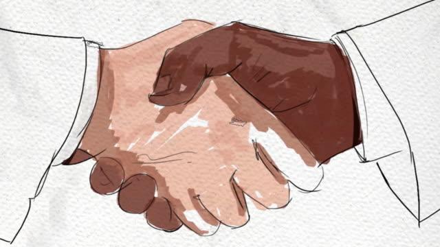 Painted Handshake - timelapse