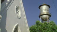MS CLINTON painted on water tower