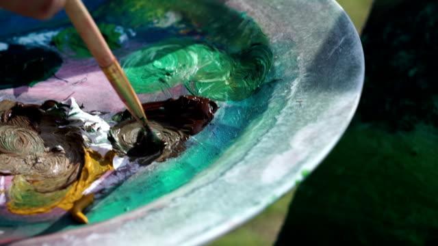 Maler Canvas-Detailarbeit