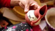 Painting a Terracotta Jug
