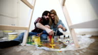 Painting and kissing