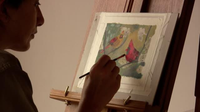 Malerei Vögel