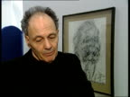 Frank Auerbach interview ENGLAND London National Portrait Gallery INT Frank Auerbach interview SOT discusses donation of selfportrait drawing to...