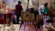 Painting from Alex grey Painting Workshop