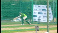 Shahid Afridi press conference / training session Pakistan players practising batting in the nets